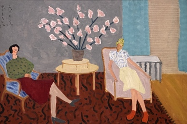 Interior with Flowers, 1944 by Milton Avery