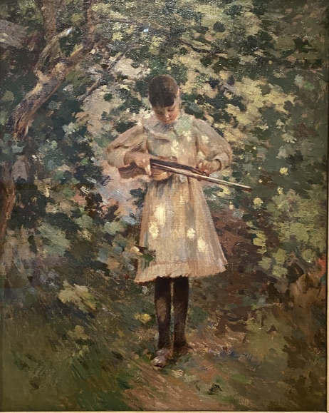 The Young Violinist (Margaret Perry), c. 1889, by Theodore Robinson