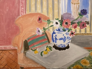 Anemones and Chinese Vase, 1922, by Henri Matisse