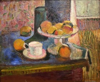 Still Life, Compote, Apples, and Oranges, 1899, by Henri Matisse