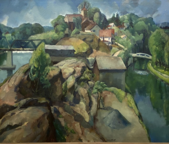 Landscape -- Two Rivers, 1917 by Leon Kroll