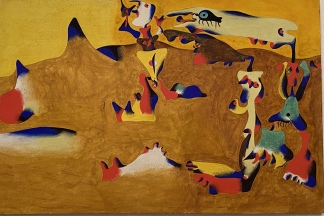 Personages Attracted by the Forms of a Mountain, 1936 by Joan Miró