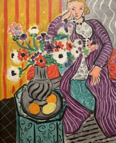 Purple Robe and Anemones, 1937, by Henri Matisse