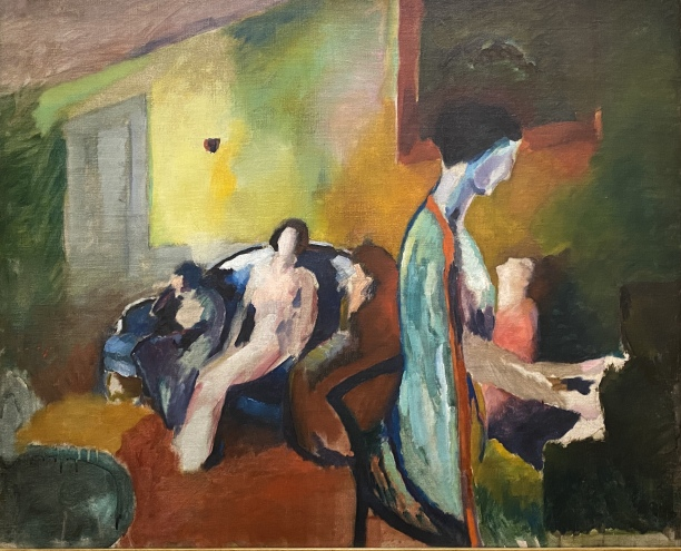 Interior with Woman at Piano, 1912 by Arthur B. Carles