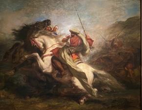 Collision of the Moorish Horsemen, 1843-44 by Eugène Delacroix