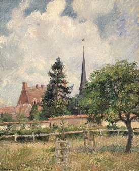 The Church of Eragny, 1884 by Camille Pissarro