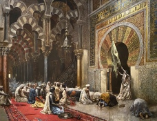 Interior of a Mosque at Cordova, 1880 by Edwin Lord Weeks