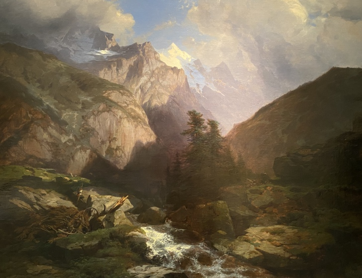 The Jungfrau, Switzerland, 1853-55 by Alexandre Calame