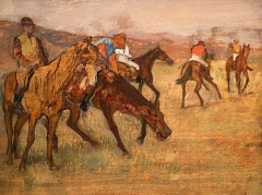 Before the Race, 1882-84 by Edgar Degas