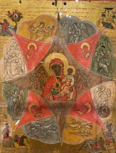 Double-Sided Icon with the Virgin of the Burning Bush (back), Russian (Moscow?), early 17th century