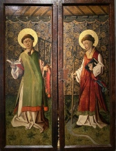 Exterior of an Altarpiece with Saints Lawrence and Leonard, ca 1450, by Arguis Master