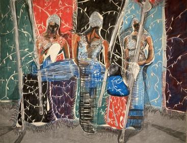 Sketch for Church Ede, 1985 by Sokari Douglas Camp (Nigeria)Sokari