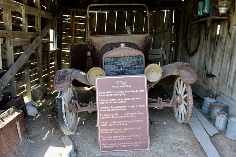 car in the barn