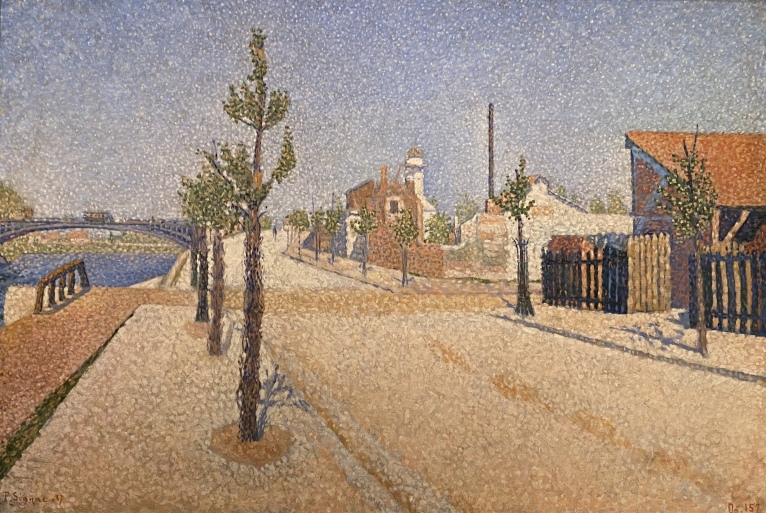 Quay at Clichy, 1887, by Paul Signac
