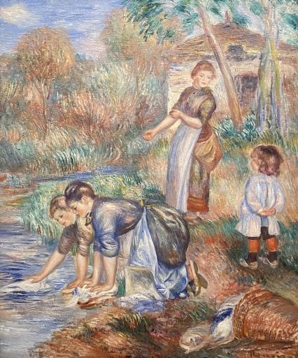 Washerwomen, c. 1888, by Pierre-Auguste Renoir