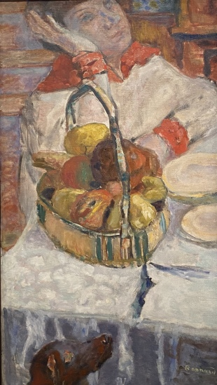 Woman with Basket of Fruit, 1915-1918, by Pierre Bonnard