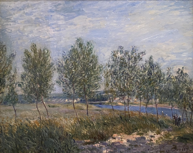 Poplars on a River Bank, 1882, by Alfred Sisley