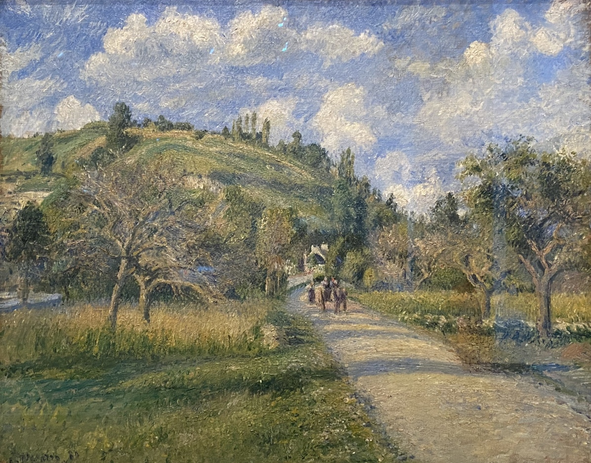 The Highway (La Côte du Valhermeil, Auvers-sur-Oise), 1880, by Camille Pissarro