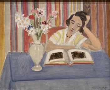 Girl Reading, Vase of Flowers, 1922, by Henri Matisse