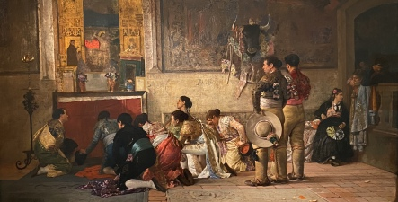 Toreros at Prayer before Entering the Arena, ca. 1870 by Jehan Georges Vibert