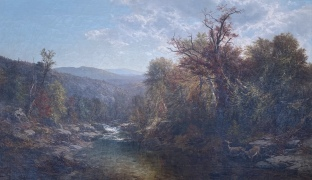 A Stream in the Adirondacks, 1859, by James McDougal Hart
