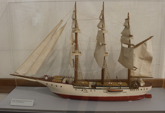Model ship made by German prisoner of war at Fort Robinson