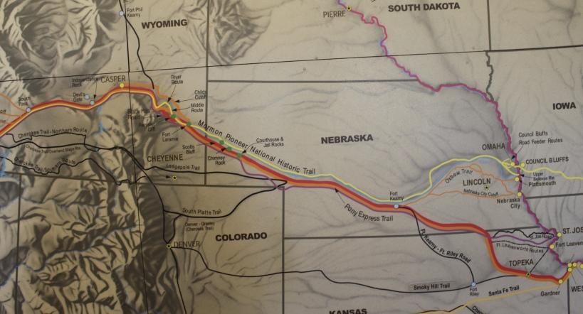 the trails through Nebraska