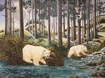 White Spirit Bears, 2012 by Judy Tallwing