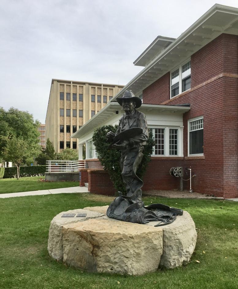 """Elling William """"Bill"""" Gollings, A True Cowboy Artist(1878-1932) Bronze by Jerry Palen"""