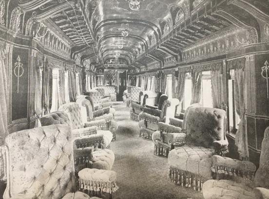 Pullman parlor car, circa 1885