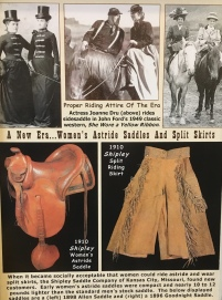Women's Astride Saddles and Split Skirts