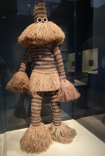 Fiber mask with costume (minganji) by Pende artist, Democratic Republic of the Congo