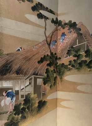 Country Scenes and Mount Fuji, Japan, Edo period ca. 1830-32 by Hokusai