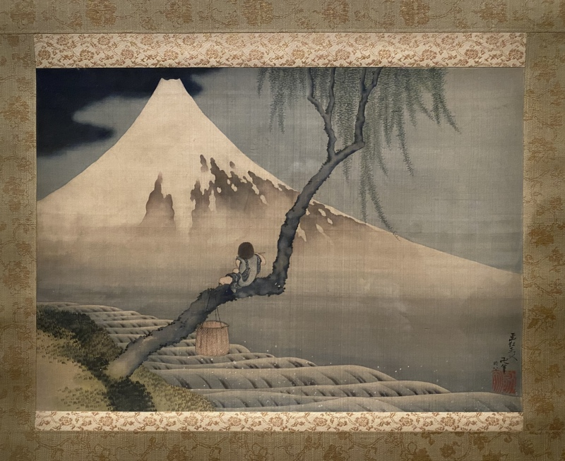 Boy Viewing Mount Fuji, Japan, Edo period, 1839 by Hokusai