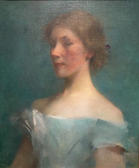 Portrait in Blue, 1898 by Thomas Wilmer Dewing