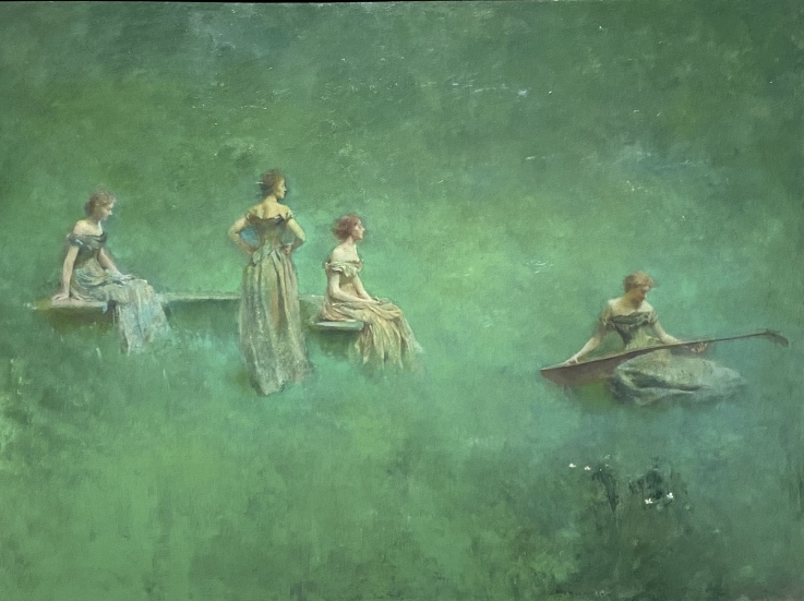 The Lute, 1904 by Thomas Wilmer Dewing