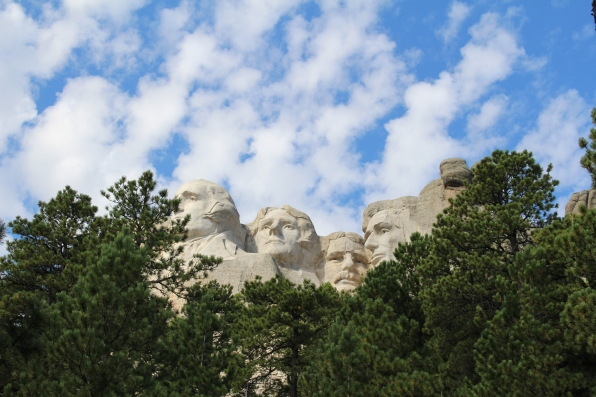 Mt. Rushmore from the Borglum View Terrace