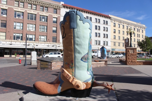 """Don't Feed the Animals"" boot by Jill Pope"