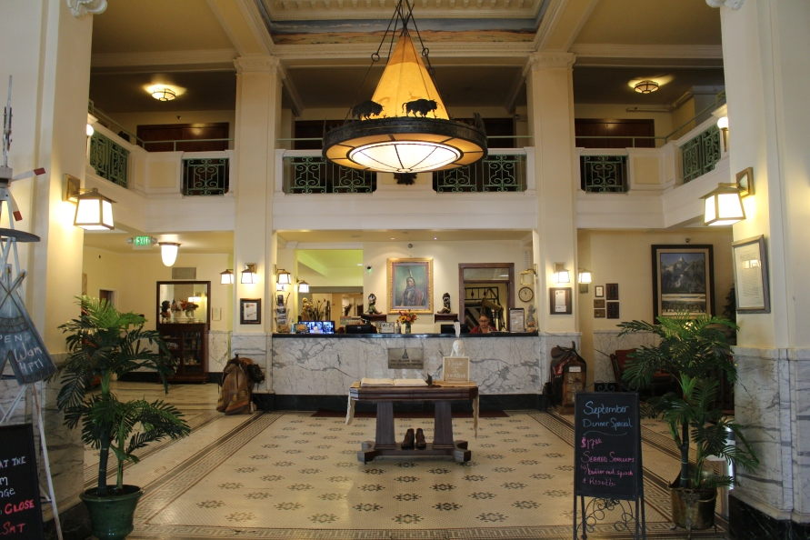 lobby of The Plains Hotel