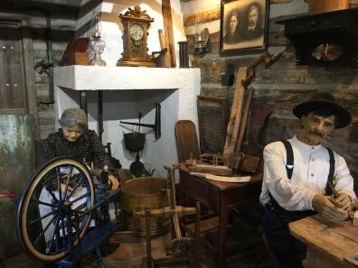furnishings in the log cabin
