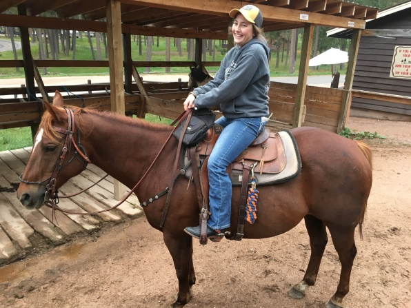 Jacey on Big Red