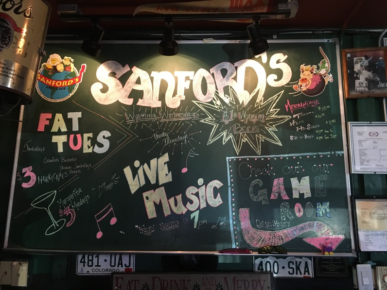 inside Sanford's Grub & Pub