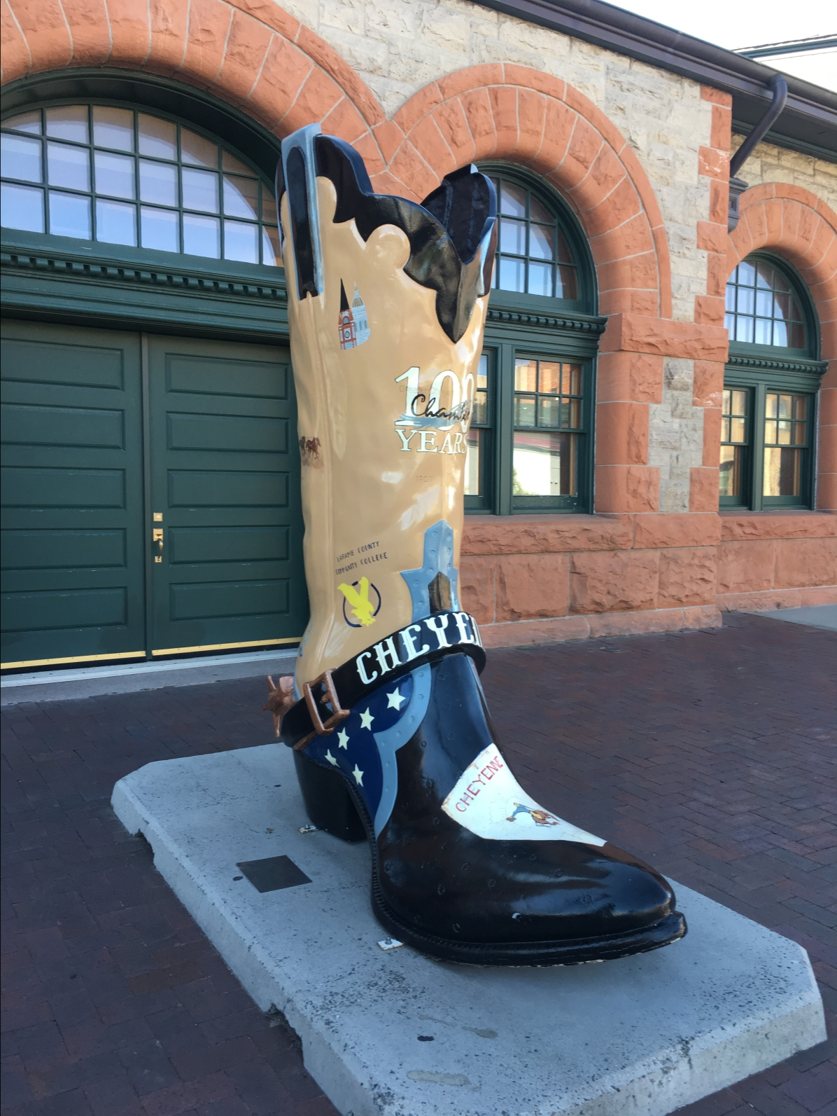 """Milestones: Chamber 100th Anniversary"" boot by Jill Pope"