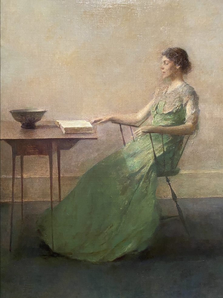 The Garland, ca. 1916 by Thomas Wilmer Dewing