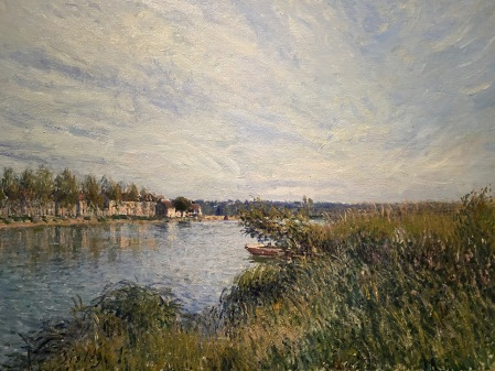 View of Saint Mammès, 1880 by Alfred Sisley