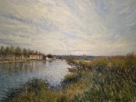 View of Saint Mammès, 1880 by Alfred Sisley