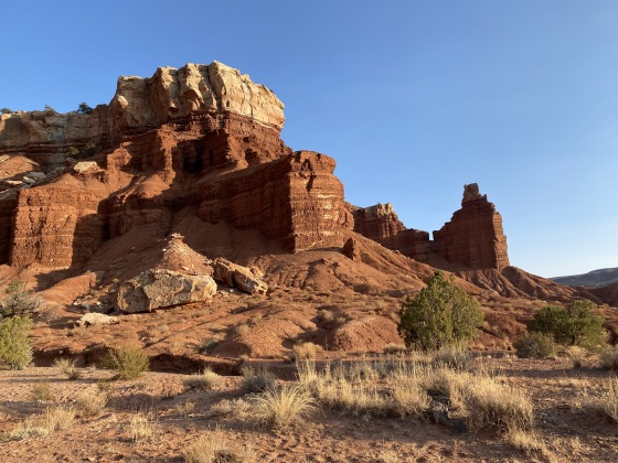 Chimney Rock at Capitol Reef National Park