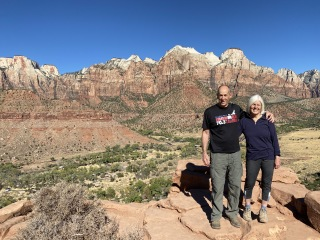 Mike and me at Zion National Park