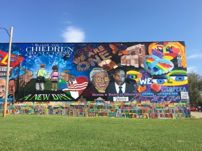 mural near Brown v. Board of Education site