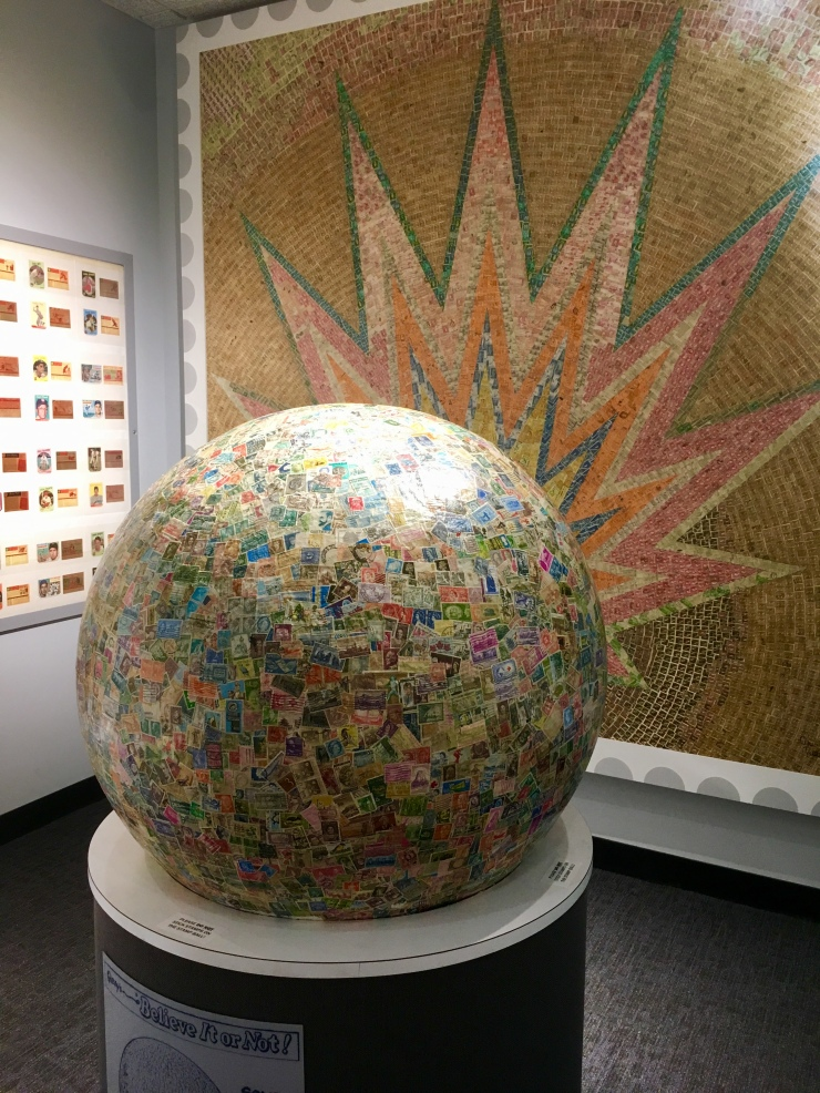 biggest ball of stamps at Boys Town, Omaha